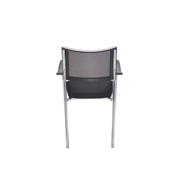 Jemini Jupiter Black/Chrome Mesh Back Conference Armchair