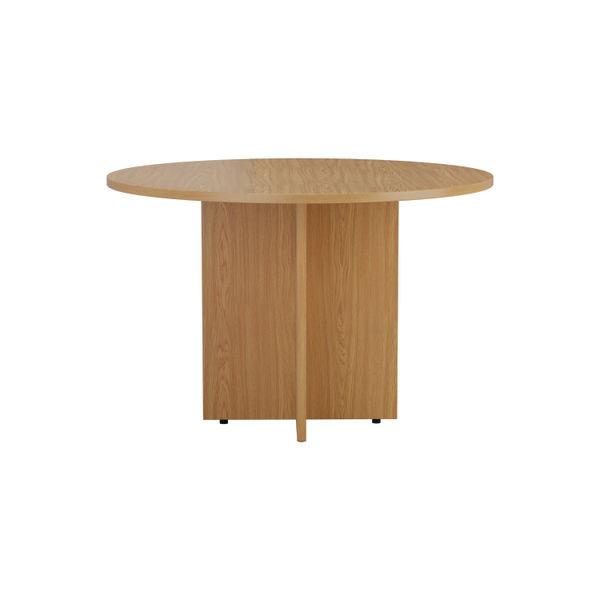 Jemini D1200mm Nova Oak Round Meeting Table
