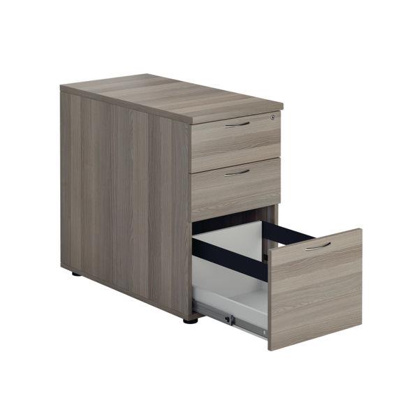 Jemini D800mm Grey Oak 3 Drawer Desk High Pedestal