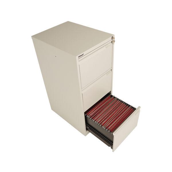 Bisley 1016mm Goose Grey 3 Drawer Flush Fronted Filing Cabinet - BS3EGY