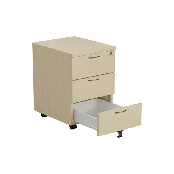 Jemini Maple 3 Drawer Mobile Pedestal