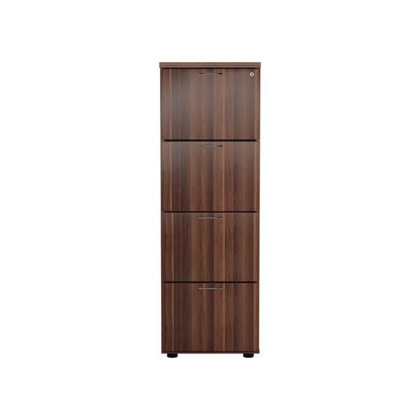 Jemini 1365mm Walnut 4 Drawer Filing Cabinet
