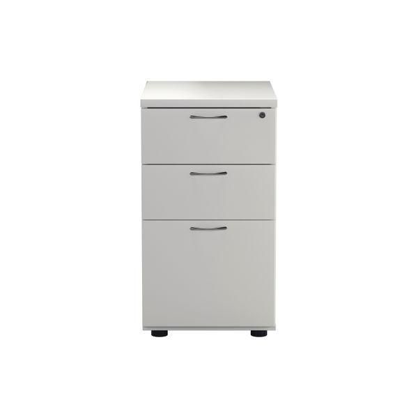 Jemini D800mm White 3 Drawer High Pedestal