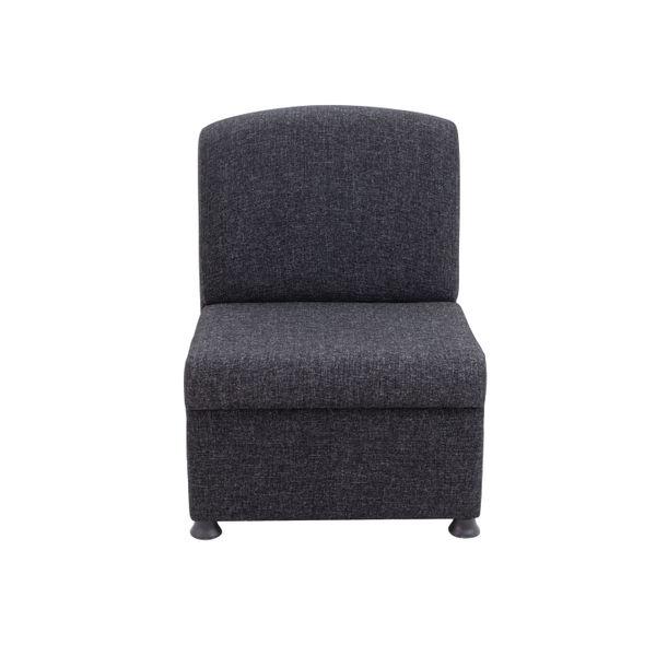 Arista Charcoal Modular Reception Chair
