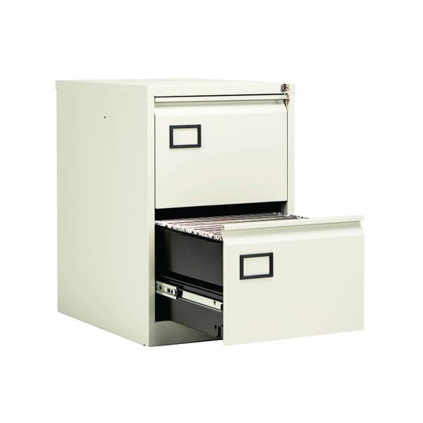 Jemini 711mm White 2 Drawer Filing Cabinet