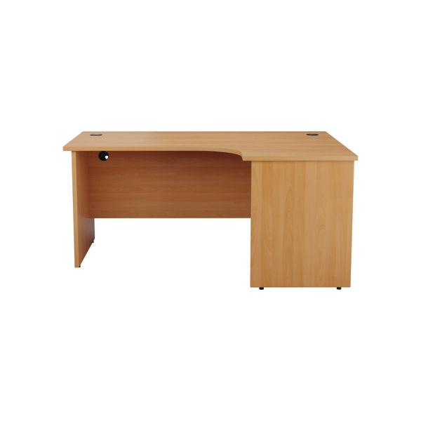 Jemini 1800mm Beech Right Hand Radial Panel End Desk