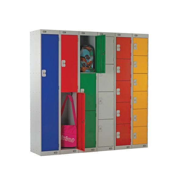 Two Compartment D300mm Yellow Locker - MC00012