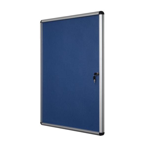 Bioffice 1800x1200 Blue Felt Aluminium Frame Board BQ52777