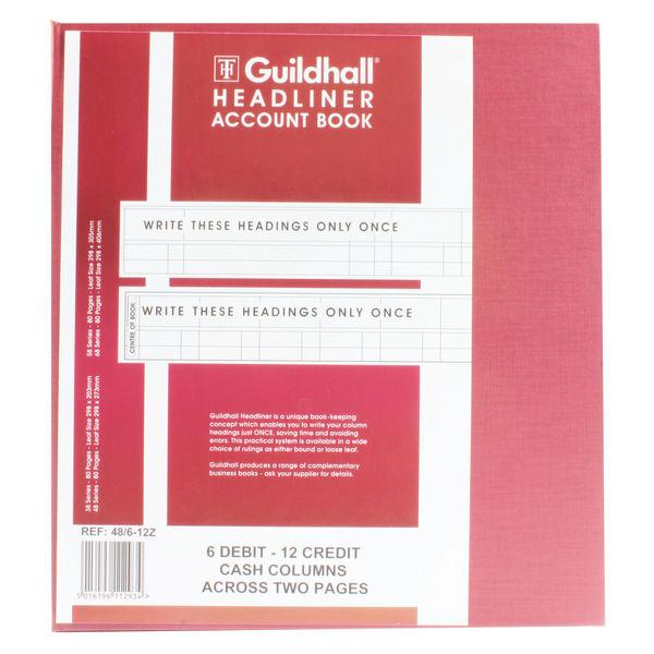 Guildhall Headliner Account Book 48/6.12 OEM: 1293