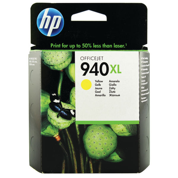 HP 940XL High Capacity Yellow Ink Cartridge | C4909AE