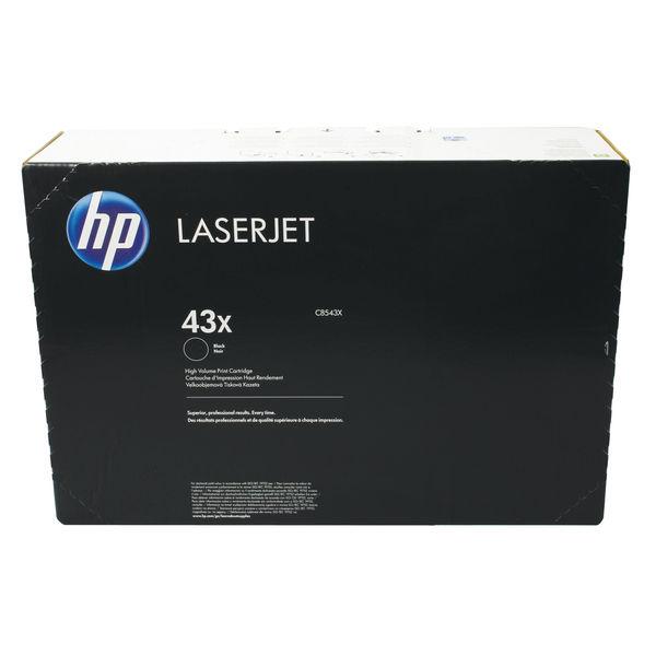 HP 43X Black LaserJet Toner Cartridge High Capacity   C8543X