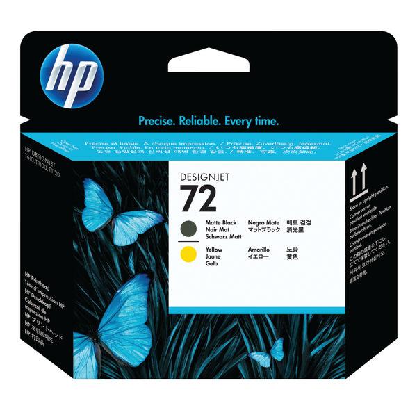 HP 72 Matte Black and Yellow Printhead | C9384A