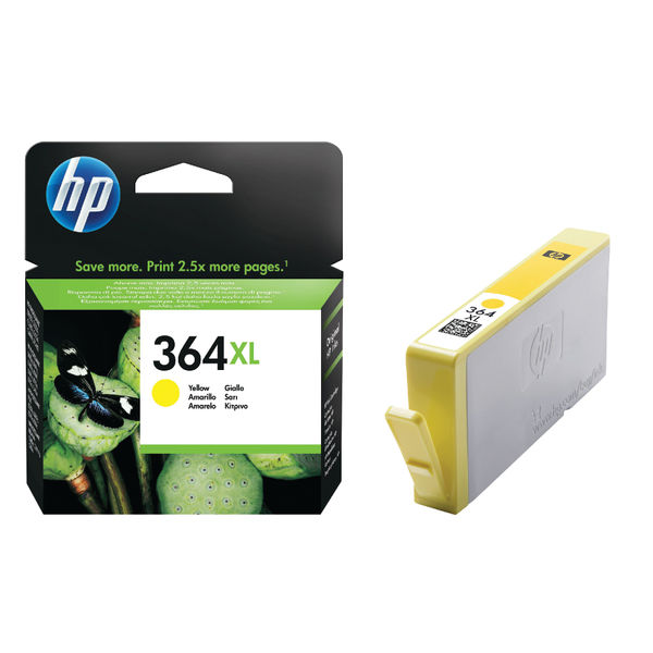 HP 364XL High Capacity Yellow Ink Cartridge | CB325EE