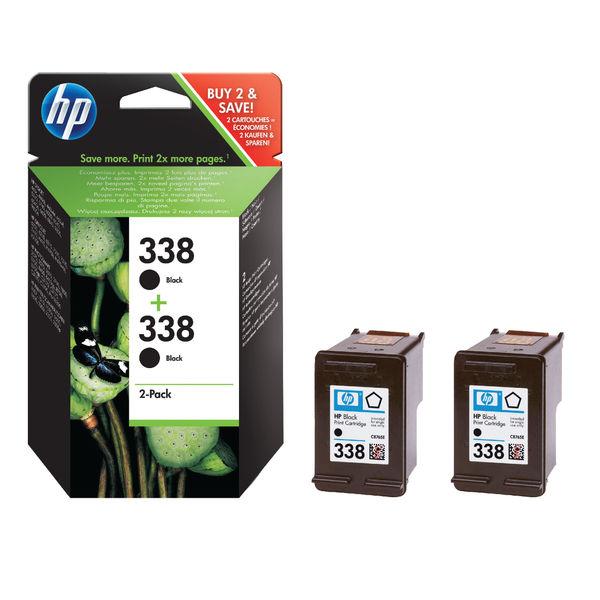 HP 338 Black Inkjet Cartridge Twin Pack | CB331EE