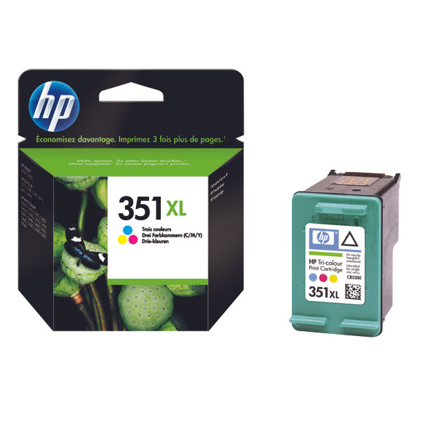HP 351XL High Capacity Tri-Colour Ink Cartridge | CB338EE