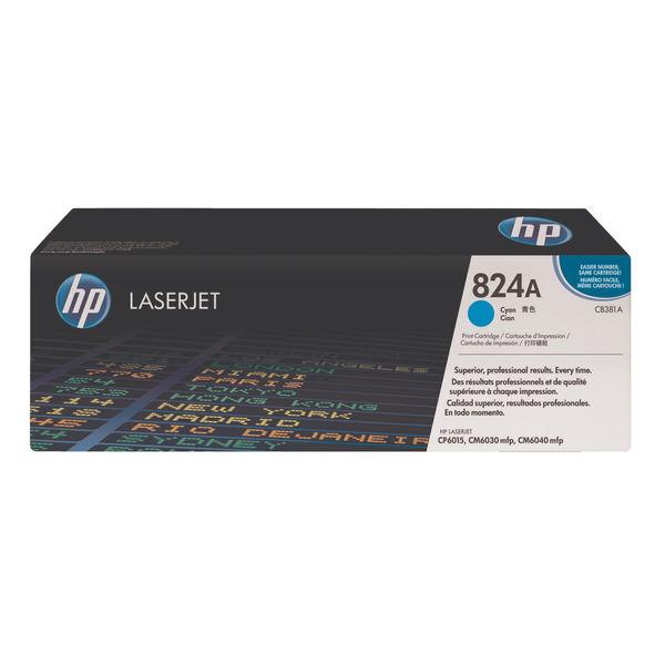 HP 824A Cyan Colour LaserJet Toner Cartridge   CB381A