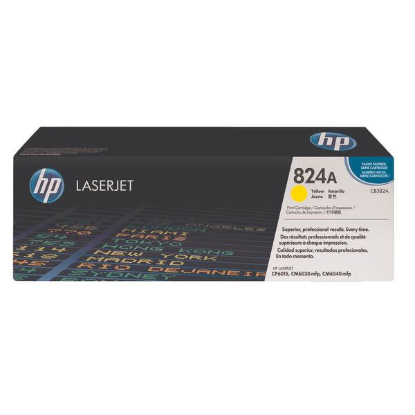 HP 824A Yellow LaserJet Toner Cartridge   CB382A