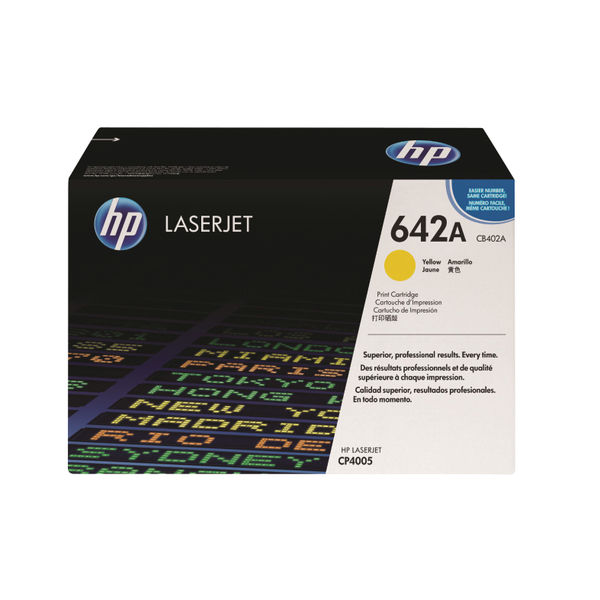 HP 642A Yellow Colour LaserJet Toner Cartridge   CB402A