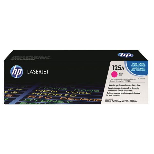HP 125A Magenta LaserJet Toner Cartridge   CB543A