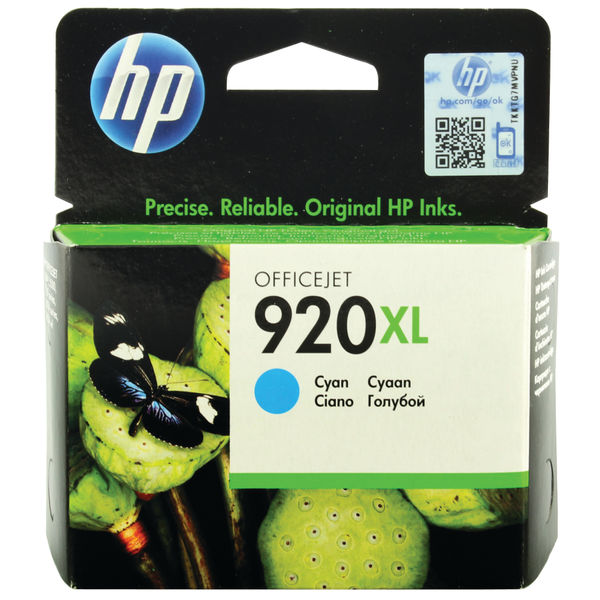 HP 920XL High Capacity Cyan Ink Cartridge | CD972AE