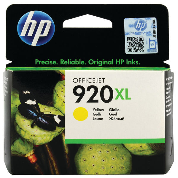 HP 920XL High Capacity Yellow Ink Cartridge | CD974AE