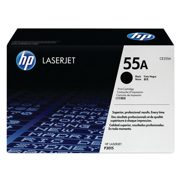 HP 55A Black Laserjet Toner Cartridge | CE255A