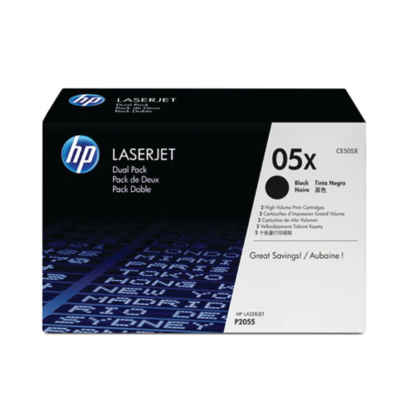 HP 05X Black LaserJet Toner Cartridge High Capacity | CE505X