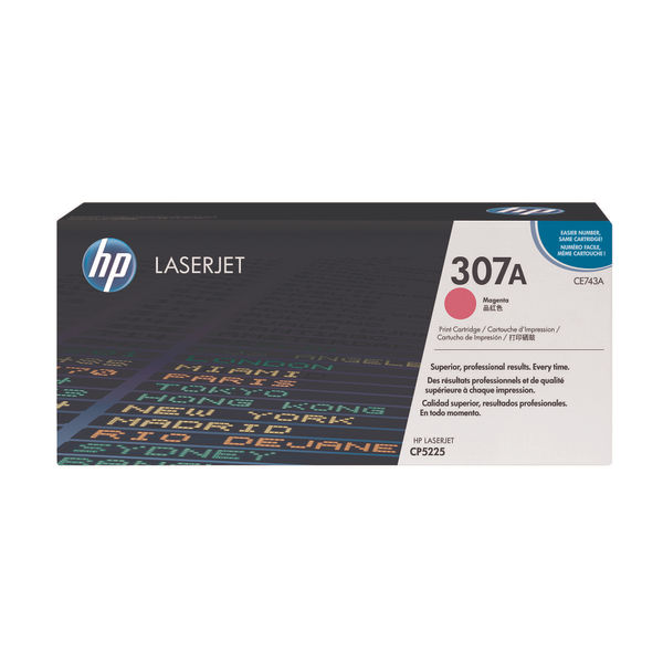 HP 307A Magenta Colour LaserJet Toner Cartridge | CE743A