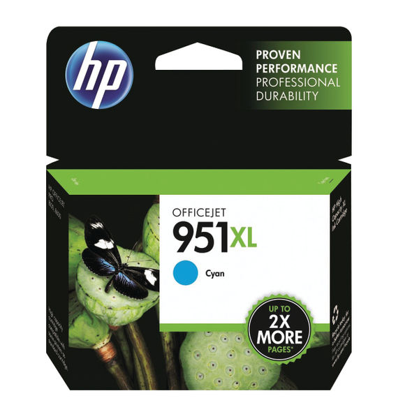 HP 951XL High Capacity Cyan Ink Cartridge | CN046AE
