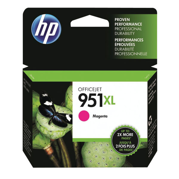 HP 951XL High Capacity Magenta Ink Cartridge | CN047AE