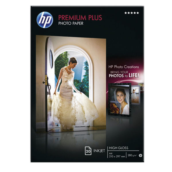 HP Premium Plus Photo Paper A4 300gsm Glossy (Pack of 20) - CR672A
