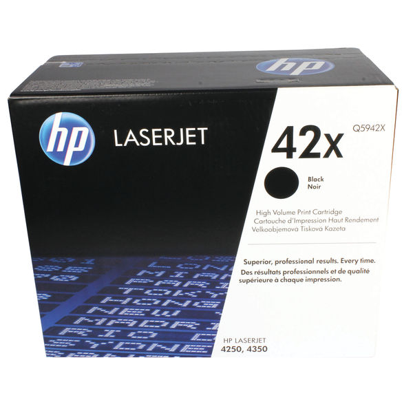 HP 42X Black LaserJet Toner Cartridge High Capacity | Q5942X