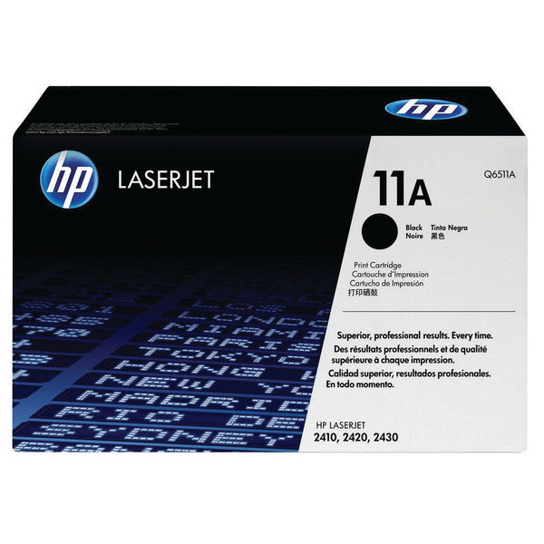 HP 11A Black LaserJet Toner Cartridge | Q6511A