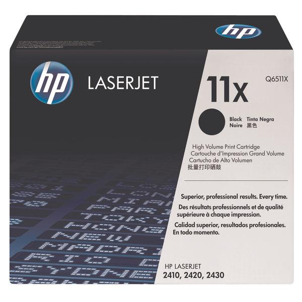 HP 11X Black LaserJet Toner Cartridge High Capacity | Q6511X