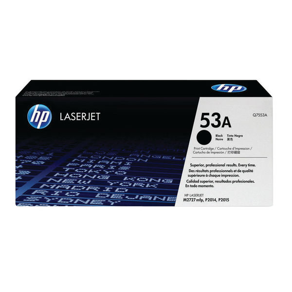 HP 53A Black Laserjet Toner Cartridge | Q7553A