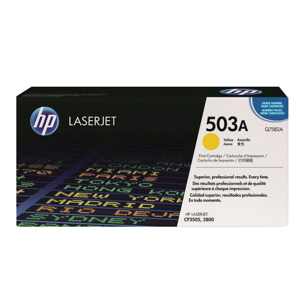 HP 503A Yellow LaserJet Toner Cartridge | High Yield Q7582A