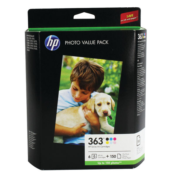 HP 363 Photo Cartridge and Paper Value Pack | Q7966EE