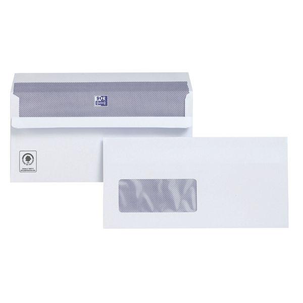 Plus Fabric DL White Window Envelopes 220x Press Seal 100gm Wallet C22570