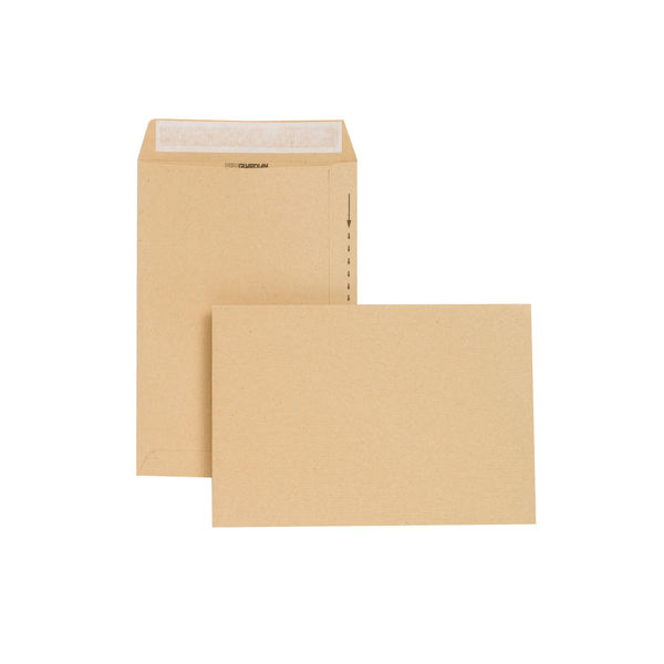 New Guardian Envelope Peel/Seal 254x178mm Manilla Pack 130gsm C26803