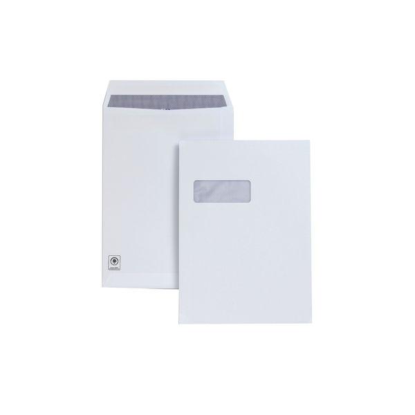 Plus Fabric Envelope C4 White Window Pocket 100gsm OEM: H27070