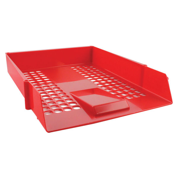 Q-Connect Letter Tray Red | CP159KFRED