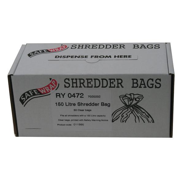 Safewrap 150 Litre Shredder Bags, Pack of 50 | RY0472