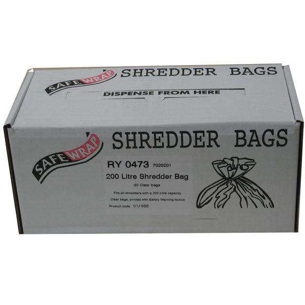 Safewrap 200 Litre Shredder Bags, Pack of 50 | RY0473