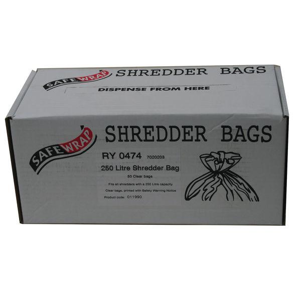 Safewrap 250 Litre Shredder Bags, Pack of 50 | RY0474