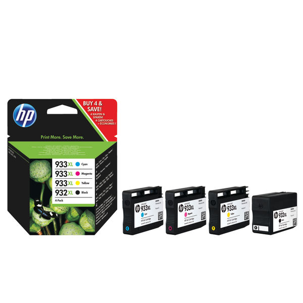 HP 932XL and 933XL Black and Colour Combo Ink Cartridge 4 Pack   C2P42AE