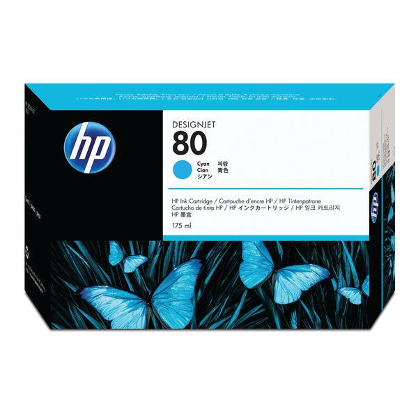 HP 80 Cyan Inkjet Cartridge 175ml | C4872A