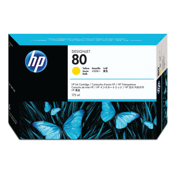 HP 80 Yellow Inkjet Cartridge 175ml | C4873A