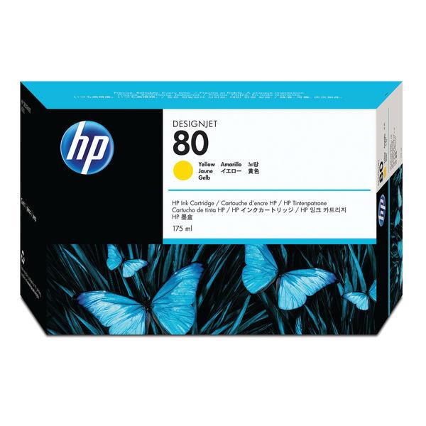 HP 80 Yellow Inkjet Cartridge 175ml | C4873A