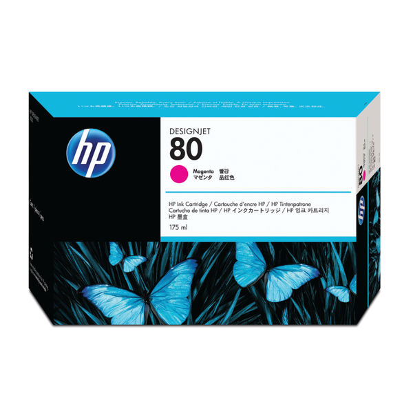 HP 80 Magenta Inkjet Cartridge 175ml | C4874A