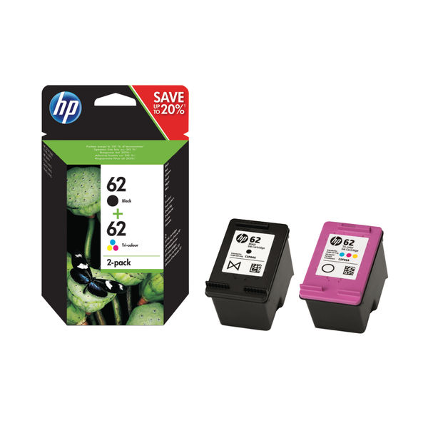 HP 62 Black and Colour Ink Twin Pack | HP N9J71AE